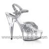 DELIGHT-609 Silver Glitter/Clear